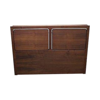 George Tanier Selection Danish Modern Teak Full Size Headboard For Sale