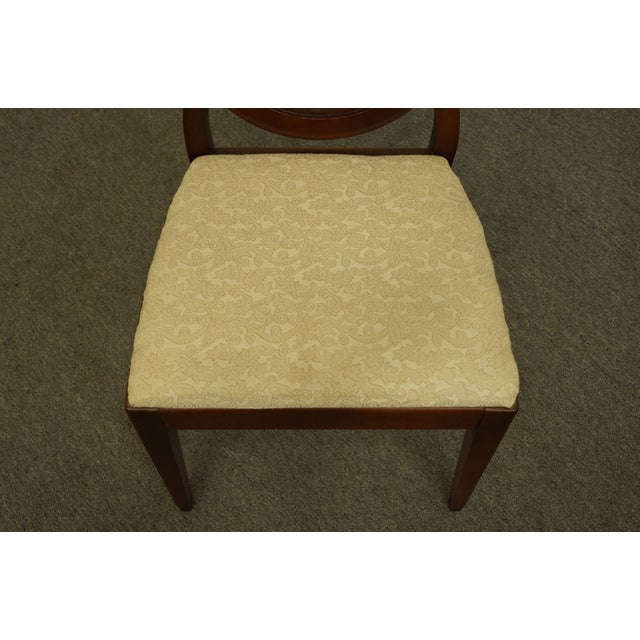 1960s 1960's Antique Vintage Solid Cherry Duncan Phyfe Sheild Back Side Chair For Sale - Image 5 of 10