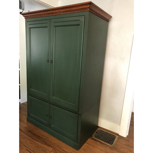 French Country Ethan Allen Country Crossings Tv Armoire For Sale - Image 3 of 12