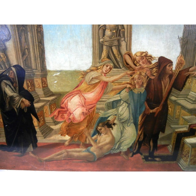18th Century Antique Italian Renaissance Calumny of Apelles After Sandro Botticelli Print For Sale - Image 10 of 13