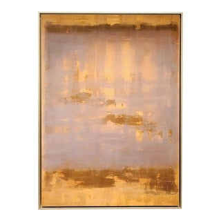 Medium Color Field Untitled Ochre Lavender #3, Fine Art Giclée Print on Archival Paper, Framed For Sale