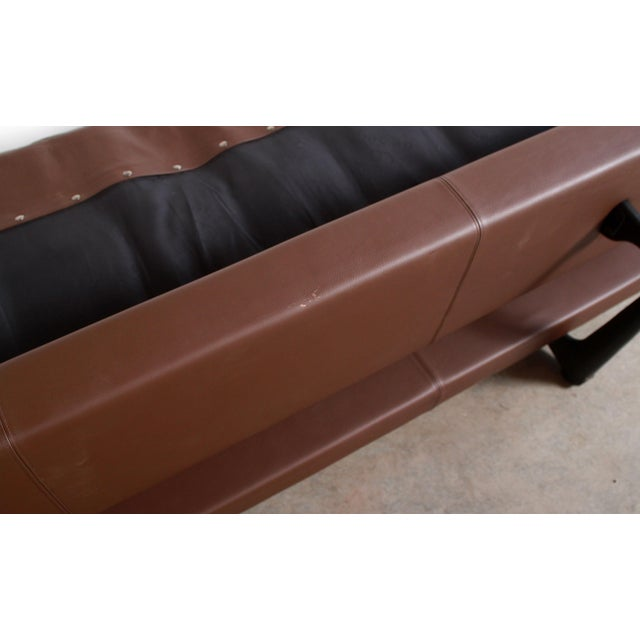 DeSede Ds169 Brown Leather Convertible Sofa For Sale - Image 10 of 12