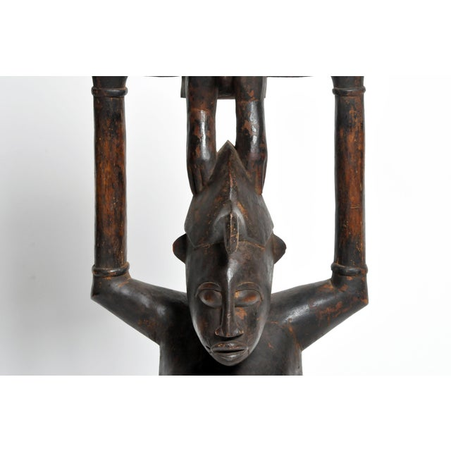 Wood Small Yoruba Figure of a Woman Sculpture For Sale - Image 7 of 13