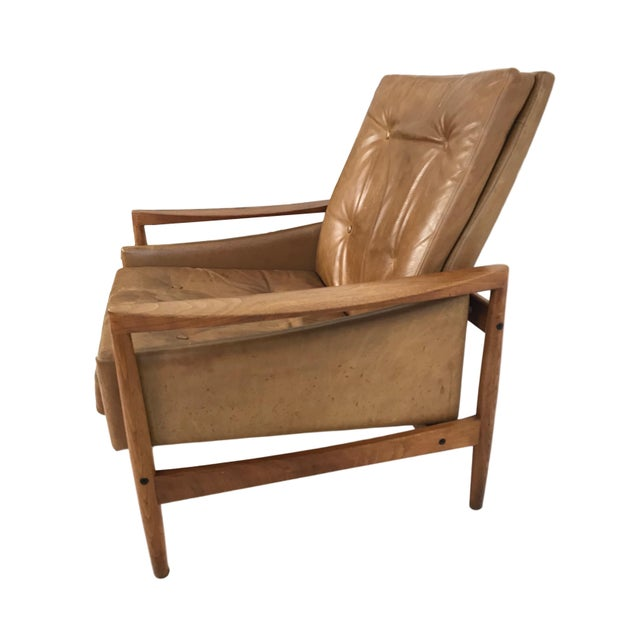 Brown 1960s Vintage Erik Worts Danish Armchair For Sale - Image 8 of 13