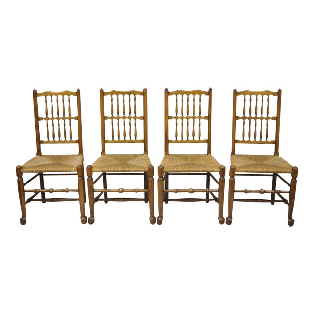 L & J G Stickley Fayetteville Queen Anne Cherry Dining Chairs - Set of 4 - Image 1 of 11