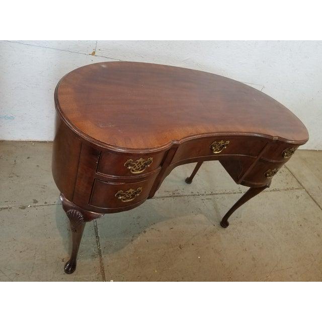 Waldorf Astoria Henredon Kidney Shaped Desk For Sale - Image 5 of 7