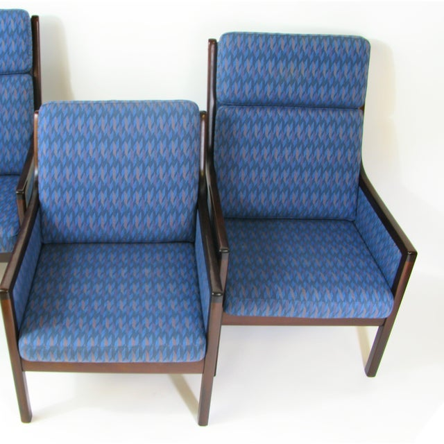 Danish Modern Lounge Chairs by Ole Wanscher for P. Jeppesen - Set of 3 - Image 6 of 8