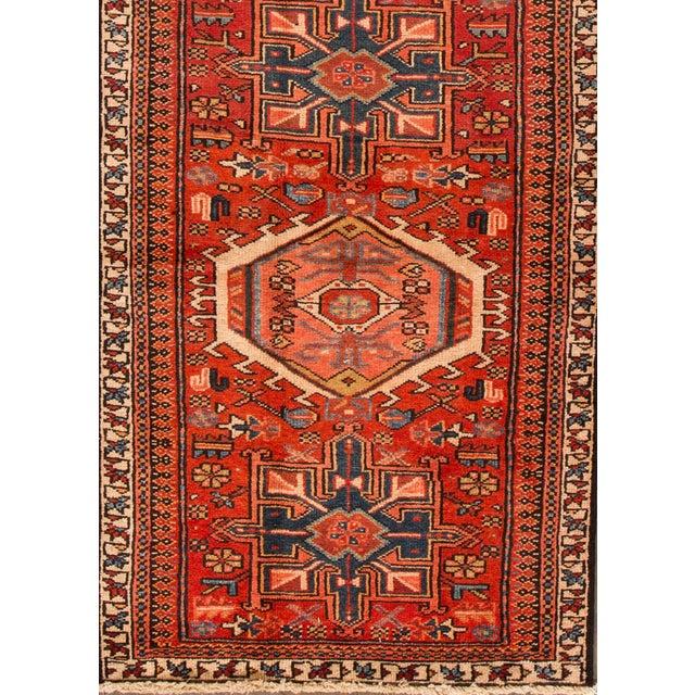 "Islamic Apadana - Vintage Persian Heriz Rug, 2'11"" x 10'2"" For Sale - Image 3 of 5"