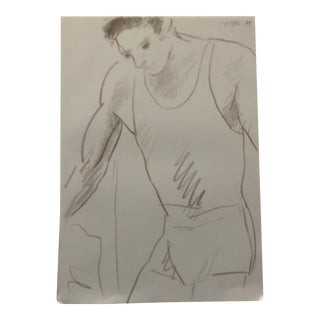 Figure Study of an Athlete by James Bone For Sale