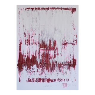 """Static 177"" Red & White Painting For Sale"
