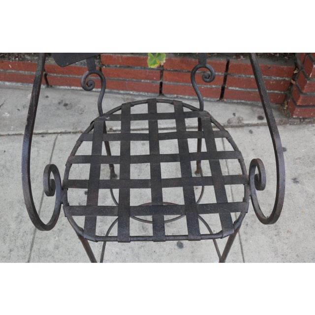 Bronze Italian Wrought Iron Dining Set For Sale - Image 8 of 11