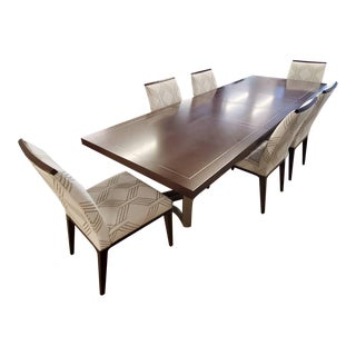 Lexington MacArthur Park Beverly Place Walnut Dining Table and Chair Set For Sale