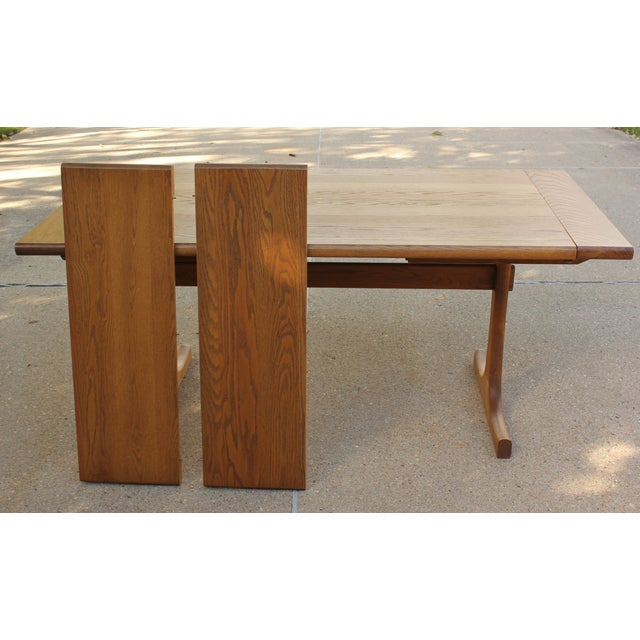 Conant Ball Oak Dining Table and 8 Chairs For Sale - Image 10 of 11