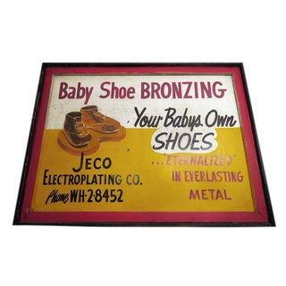 Double Sided Baby Shoe Bronzing Sign