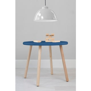 """Peewee Large Round 30"""" Kids Table in Maple With Pacific Blue Finish Accent Preview"""