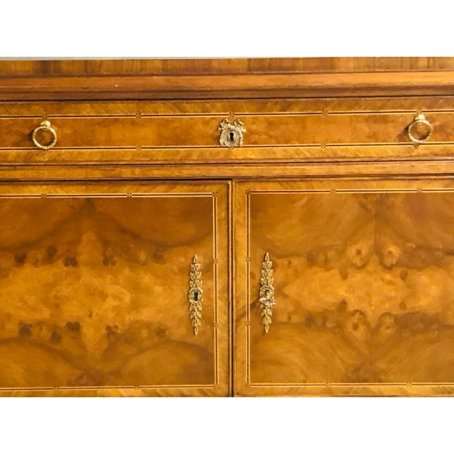 Karges Furniture French Walnut Louis XVI Style Sideboard For Sale - Image 9 of 13