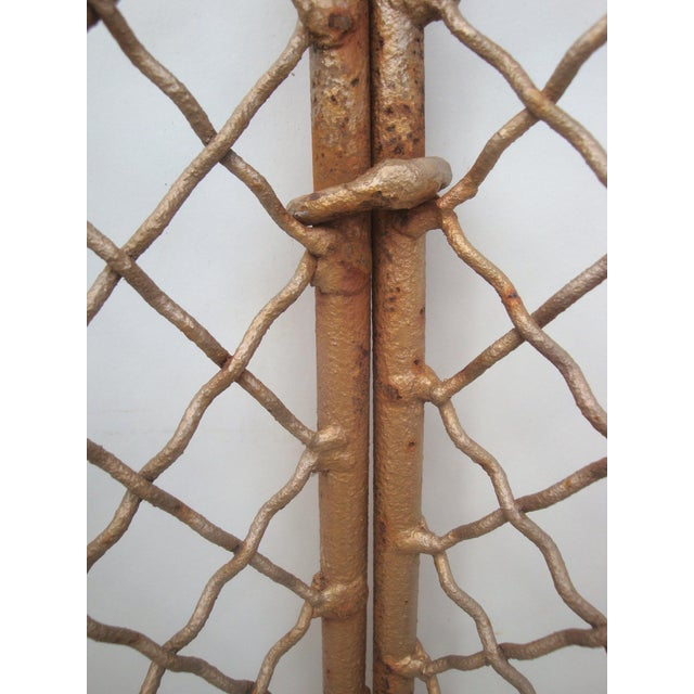Handforged Iron Fireplace Screen With Castle Emblem For Sale In Richmond - Image 6 of 6
