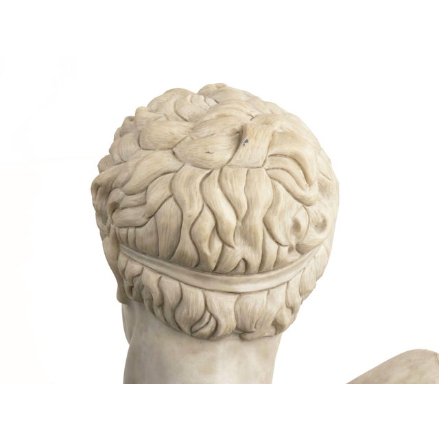 Classical Marble Bust of Hermes Holding Dionysus After the Antique by Praxiteles For Sale - Image 10 of 13