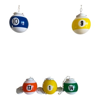 Pop Art Pool Ball Lights - Set of 5 For Sale