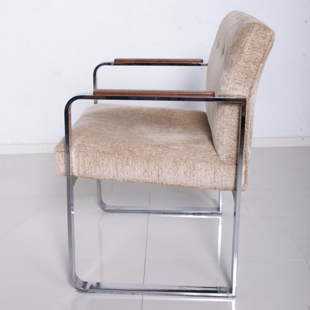 Mid Century Modern Milo Baughman for Thayer Coggin Chrome Dining Chairs-Set of 4 For Sale In San Diego - Image 6 of 11