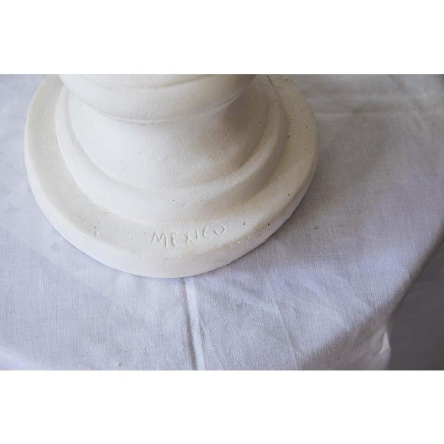 Elegant Hollywood Regency Large Plaster Bust For Sale - Image 10 of 13