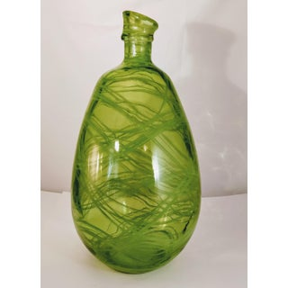 Vintage Green Recycled Glass Vase Spanish Bottle Jar Preview