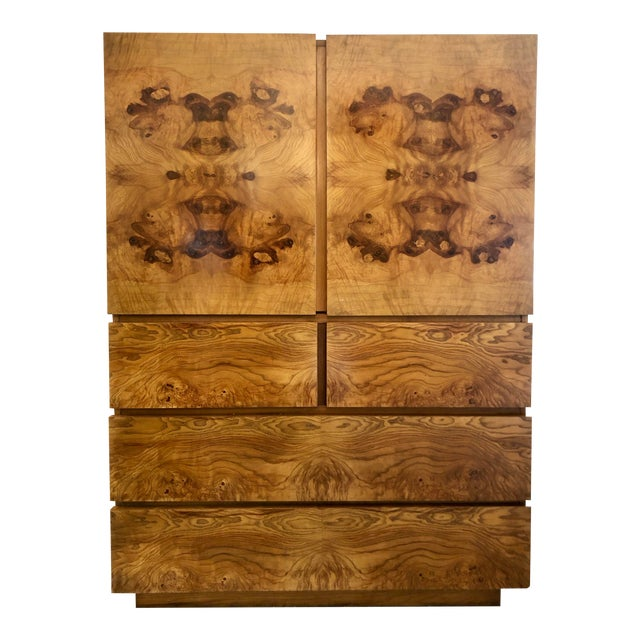 Burl Wood Cabinet by Lane Altavista For Sale