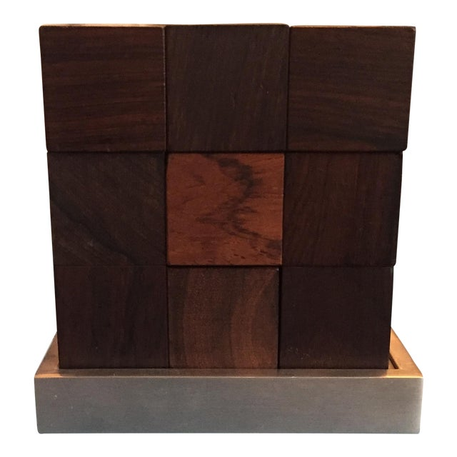 Mid Century Modern Danish Rosewood Teak Parker Brothers Cube Puzzle Game - Image 1 of 11
