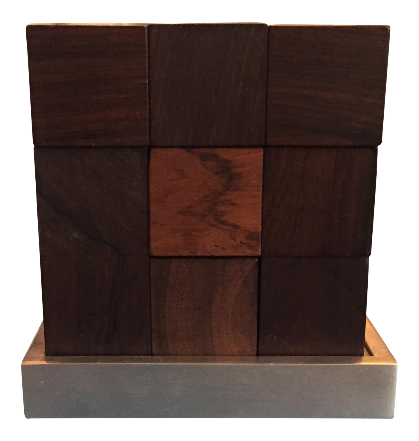 Incroyable Mid Century Modern Danish Rosewood Teak Parker Brothers Cube Puzzle Game