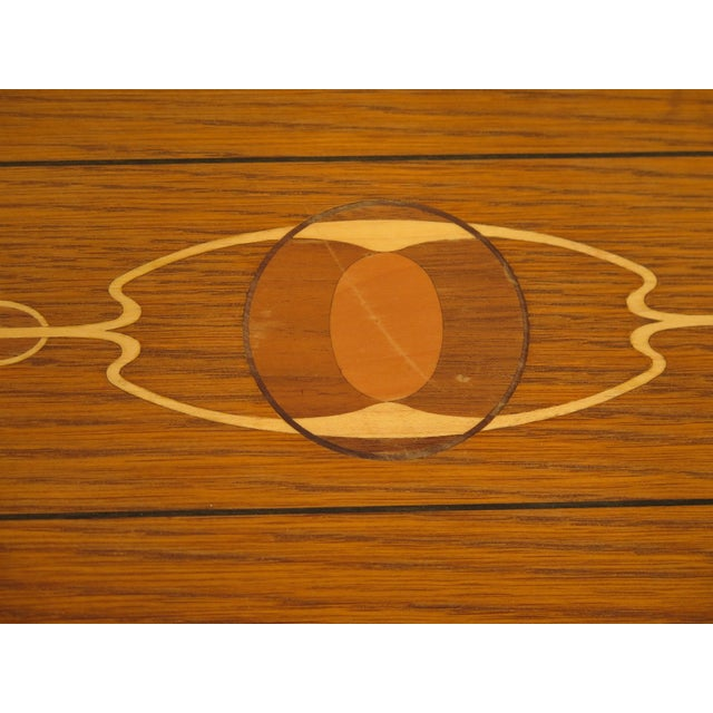 Arts & Crafts Arts & Crafts Stickley Inlaid Top Oak Blanket Chest For Sale - Image 3 of 13