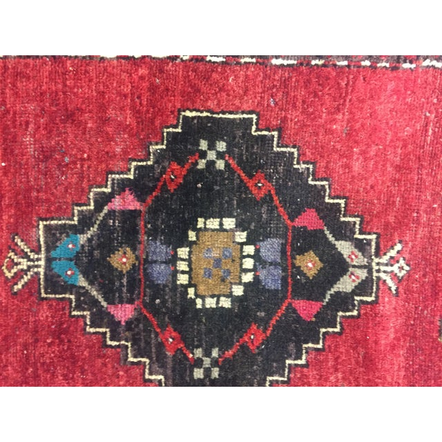 Vintage Turkish Oushak Hand-Knotted Wool Rug - 1' x 4' - Image 10 of 11