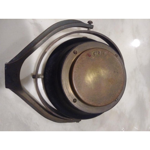 Vintage Brass Kelvin White Boston Ships Compass For Sale - Image 4 of 6