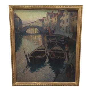 Venice Canal Scene Oil Painting by Mischa Askenazy