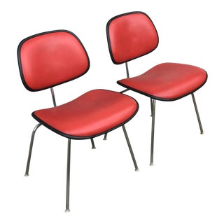 1970s Vintage Eames for Herman Miller Dcm Chairs- A Pair For Sale