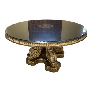 Traditional Black Stone Table For Sale