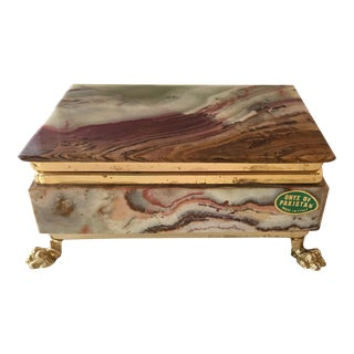 Italian Onyx Box For Sale