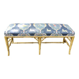 Faux Bamboo Long Bench For Sale