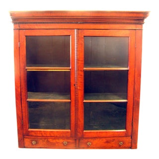 Special Midwest Delivery Antique French Louis Philippe Cabinet / Vitrine For Sale