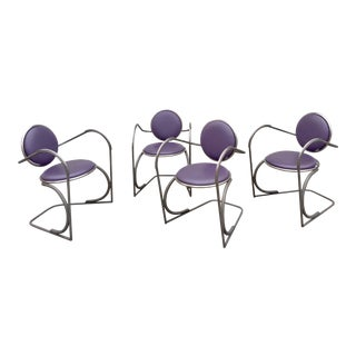 Vintage Memphis Style Chairs - Set of 4 For Sale