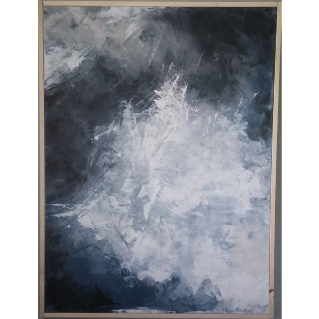 """""""Layered Clouds"""" Framed Abstract Art by Kris Gould - Image 2 of 6"""