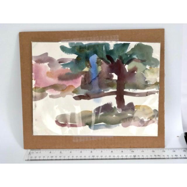 """Victor Di Gesu """"Carmel Landscape"""" Watercolor C. 1955 (1914-1988) A period watercolor on paper of a local landscape..."""