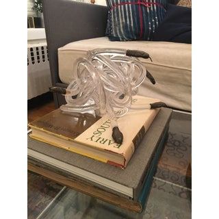 1970s Vintage Alessandro Albrizzi Lucite and Bronze Snake Sculpture Preview