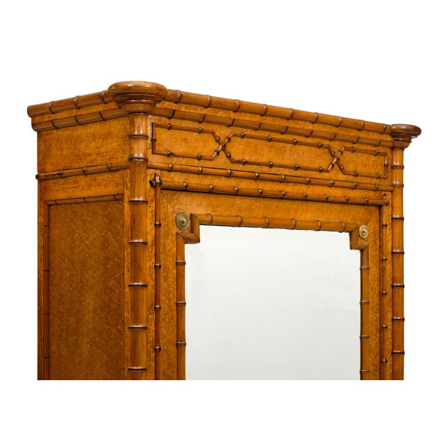 French French Antique Bamboo Bonnetiere For Sale - Image 3 of 10
