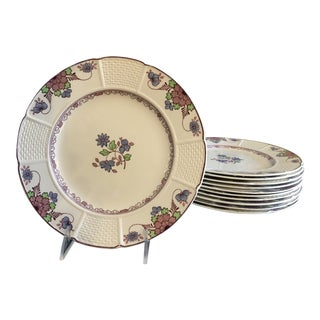 English Wedgwood Saxon Design Luncheon Plates - Set of 11 For Sale