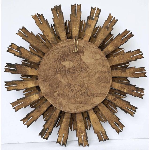Goldenrod French Gilt Starburst or Sunburst Mirror (Diameter 24) For Sale - Image 8 of 9