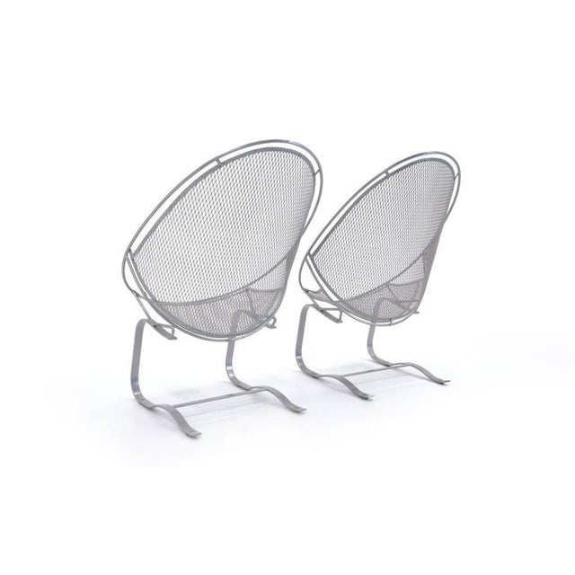 Metal 1960's John Salterini Patio Chaise Lounges-A Pair For Sale - Image 7 of 10