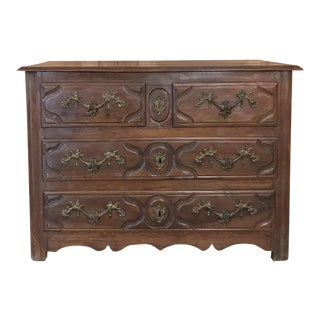 19th Century French Louis XIV Walnut Commode For Sale