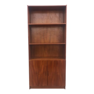 Danish Modern Teak Shelving Unit With Cabinets For Sale