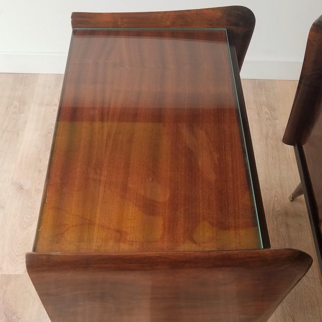 Italian Mid-Century Modern Burl Walnut Nightstands - a Pair For Sale In Seattle - Image 6 of 13