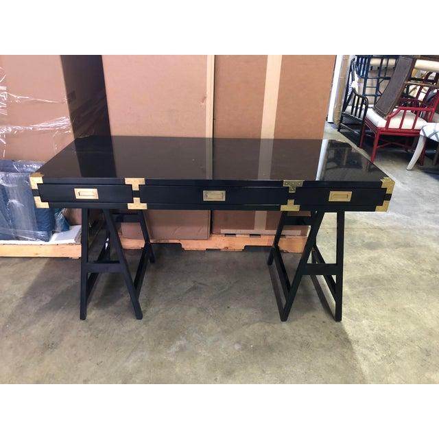 Selamat Designs Chiba Black Lacquer Study Desk - Image 2 of 8